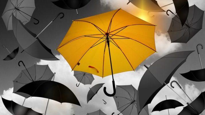 deštník jako doplněk