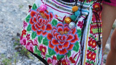 kabelka květinová